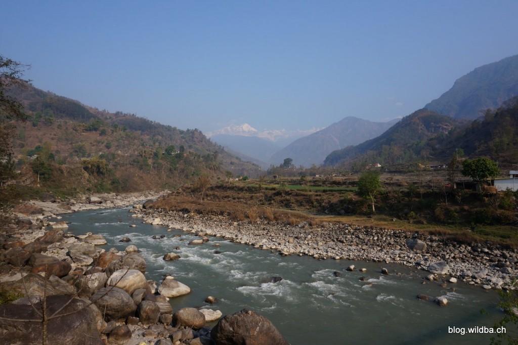 Lamjung Himal (6983m) von Besisahar (760m)