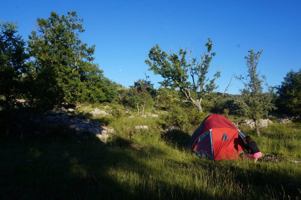Biwakplatz am Plateau des Baou de Saint-Jeannet