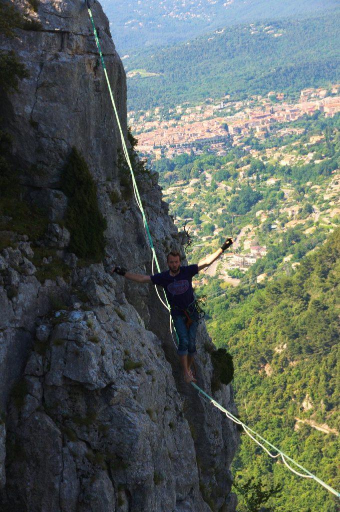 Weitere Versuche von Christoph auf der 40m+ Line (Fotocredit: Sarah)