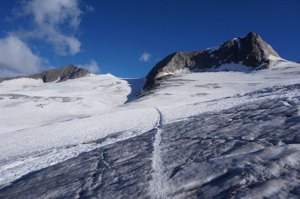 Aufstiegsroute im inneren Mullwitzkees