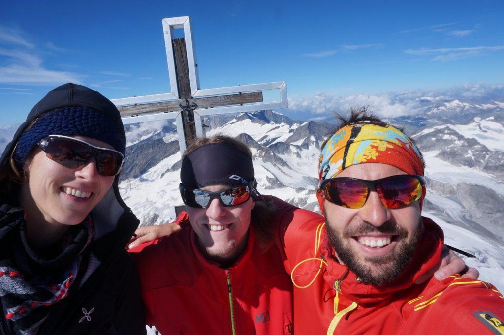 Großvenediger Gipfel-Selfie