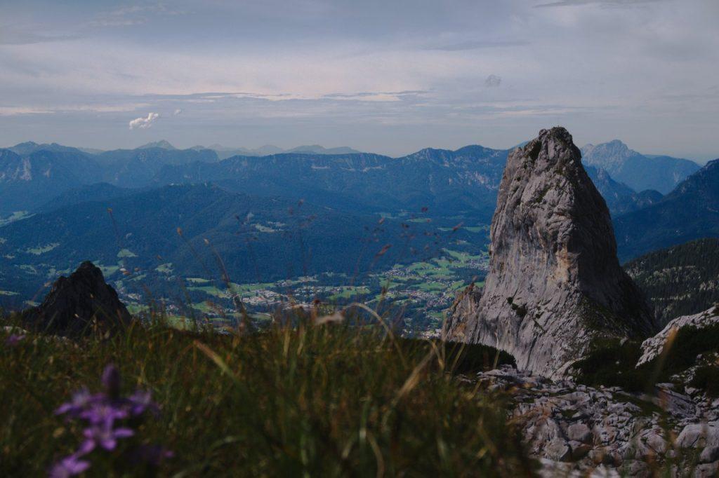 Das Pflughörndl fotografiert im Abstieg über das Alpeltal