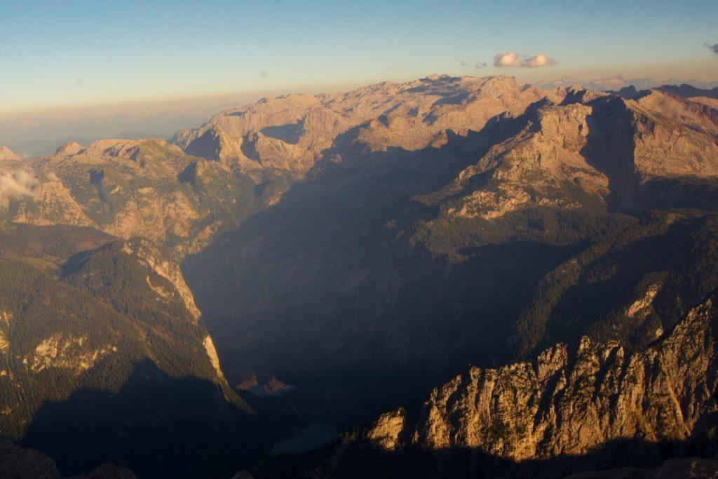 Spiegelung der Gipfel im Obersee