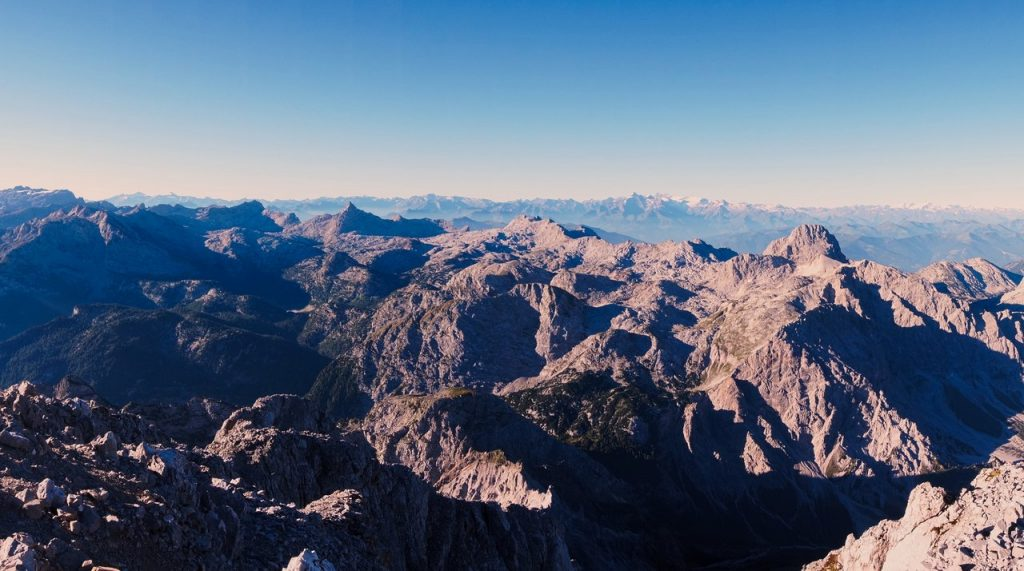 Panorama vom Watzman-Südspitze aus fotografiert