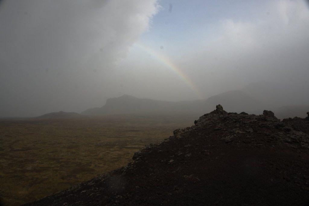 Blick vom Saxholl Krater