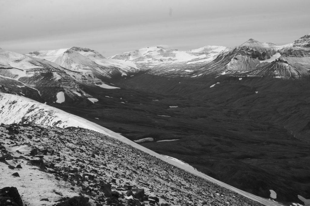Die Berglandschaft bei Akureyri