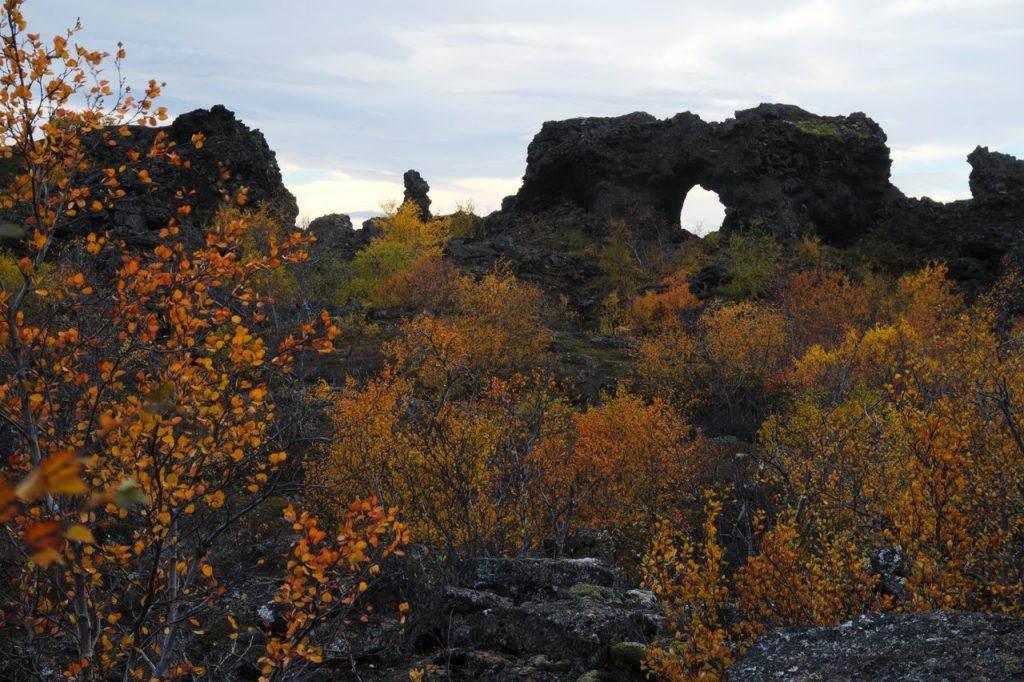 das Lavafeld Dimmuborgir