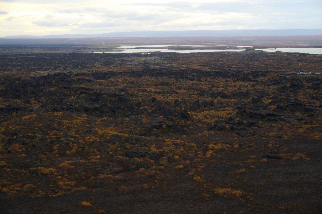 Aussicht über Dimmuborgir vom Hverfjall aus