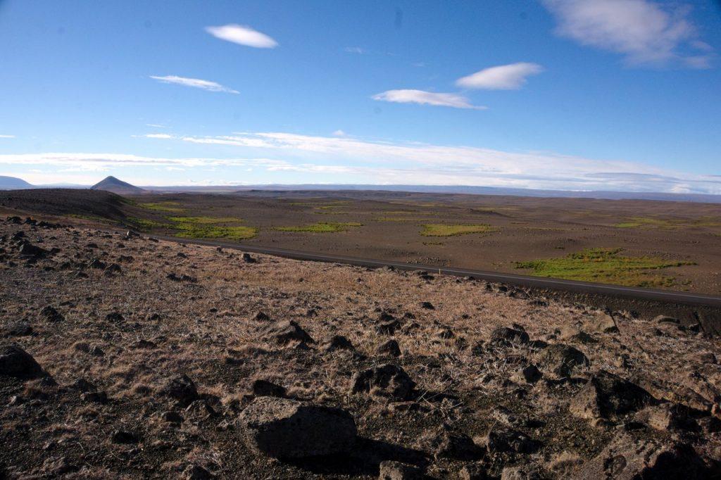 wüstenähnliche Landschaft bei Mývatn