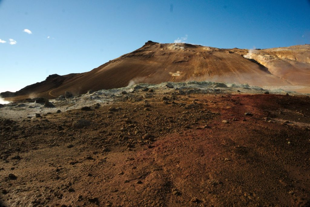 Námafjall, ein aktiver Vulkan