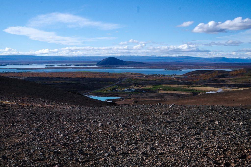 Blick in Richtung Mývatn