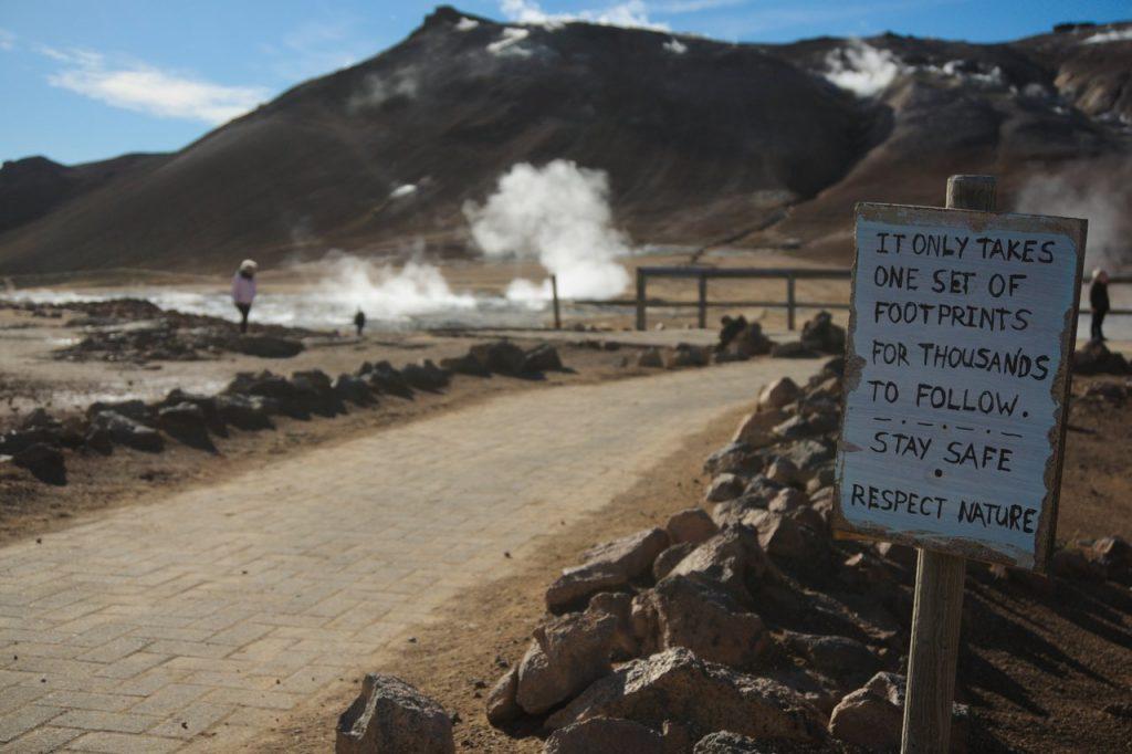 Betreten Verboten Schilder im isländischen Stil