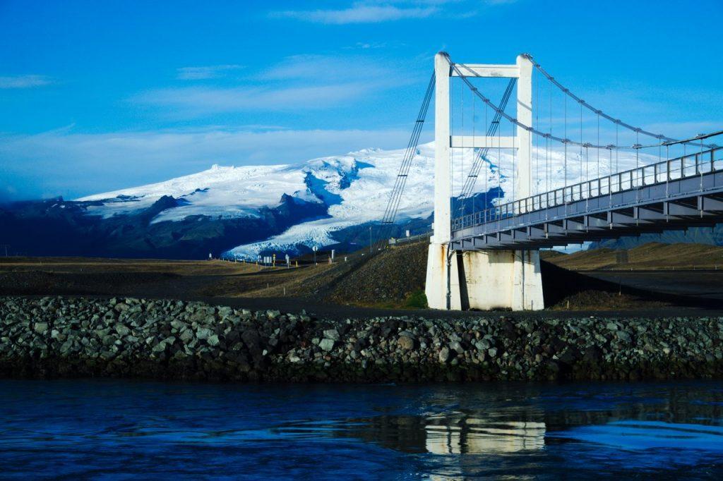 Brücke an der Ringstraße am Jökulsárlón