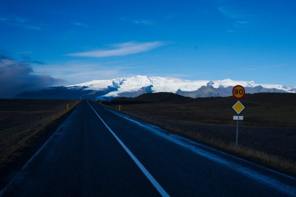 Ringstraße in Richtung Vatnajökull